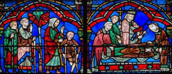 Pilgrims seeking healing