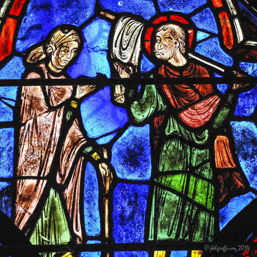 St. Juilen and his wife as pilgrims
