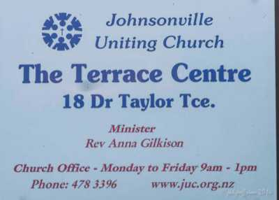 Church signage for the Johnsonville Labyrinth