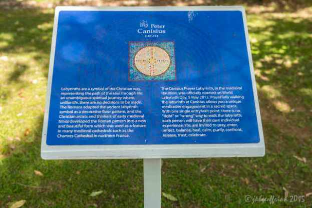 Peter Canisius Center Labyrinth Signage