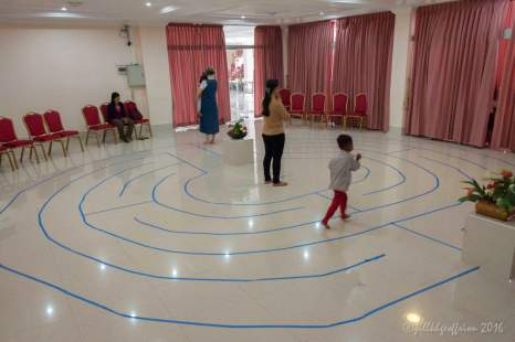 Praying a 5 circuit heart of Chartres labyrinth by Jill K H Geoffrion