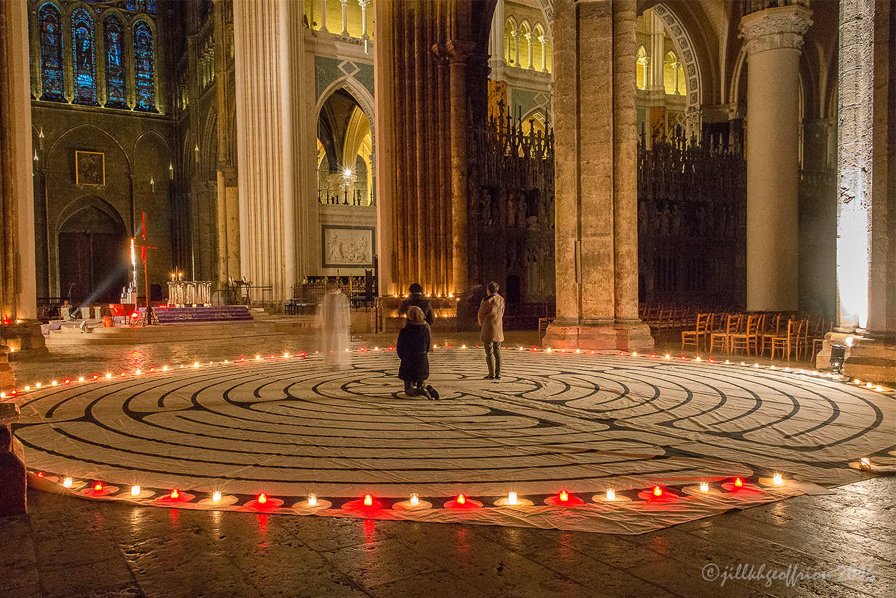 Labyrinth Prayer In The Chartres Cathedral Through Jill