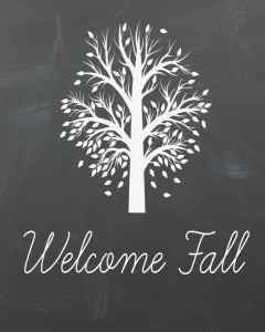 Chalkboard Fall Printable