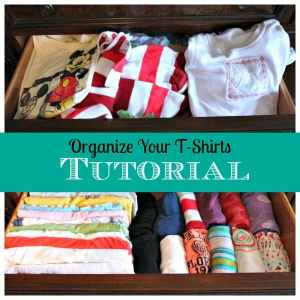 Organize Your T-Shirts Tutorial