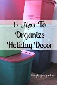 5 Tips To Organize Holiday Decor