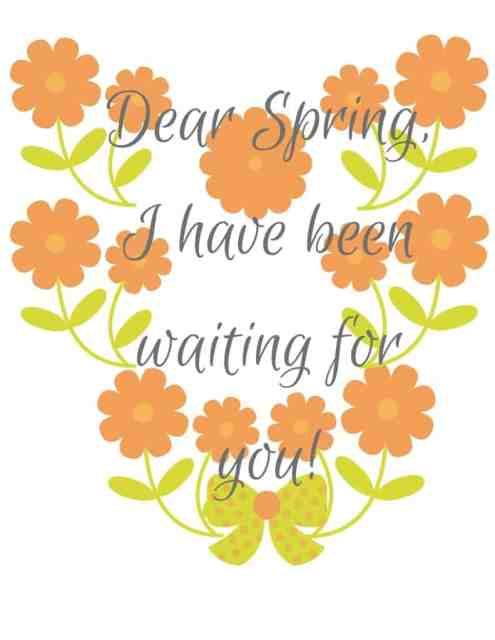 Free Spring Printable Picture 2016