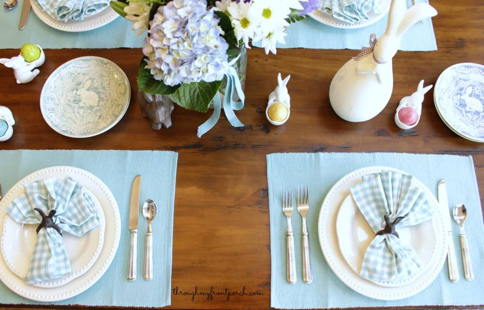 Fresh And Simple Beautiful Blues Easter Table 2016
