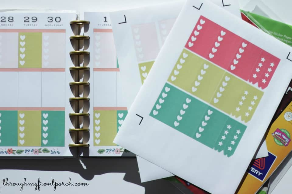 Free Happy Planner Stickers With Cricut Explore