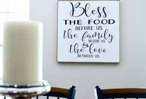 DIY Bless The Food Sign Using A Cricut Explore