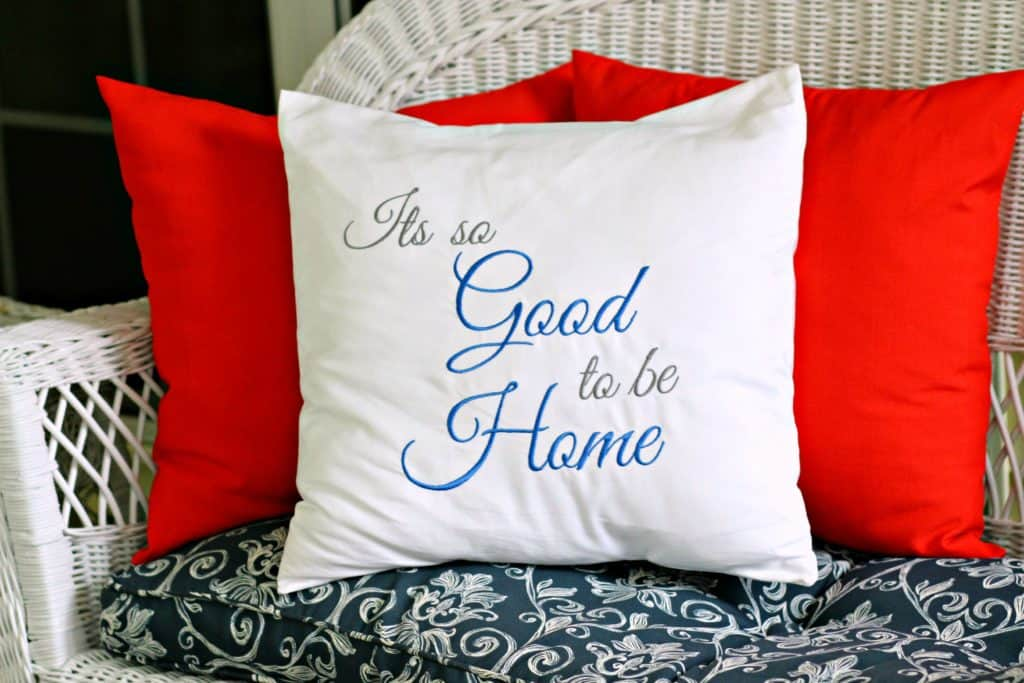 sew an 18 inch envelope pillow cover
