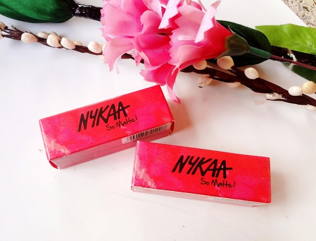 Nykaa so matte lipsticks Naughty Nude and Taupe Thrill