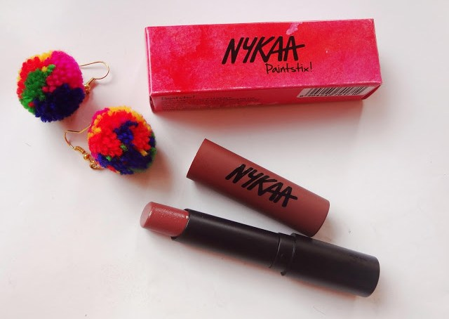 """Nykaa Paintstix in Cool Girl Nude 02 review and swatch @throughmypinkwindow"""
