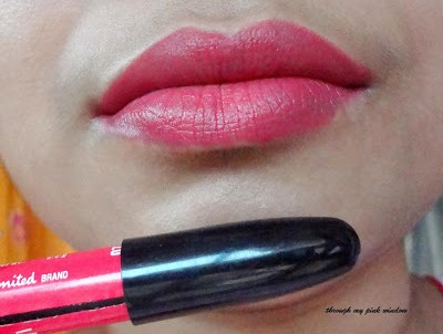 Lakme Enrich Lip Crayon in Shocking Pink Swatch and LOTD