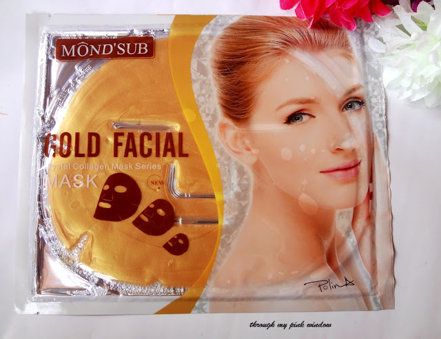 review of Mond'Sub Collagen Silk facial mask sheet  and Gold Mask Sheet