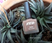 Nykaa Matte Nail Lacquer in 126 Spice Gingerbread: Review and Swatch