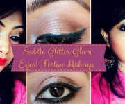 Subtle Glitter Glam Eye Make up Look Step by Step tutorial | Festive Make up Look