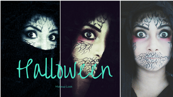 Easy Halloween makeup look step by step tutorial | Silence of Death