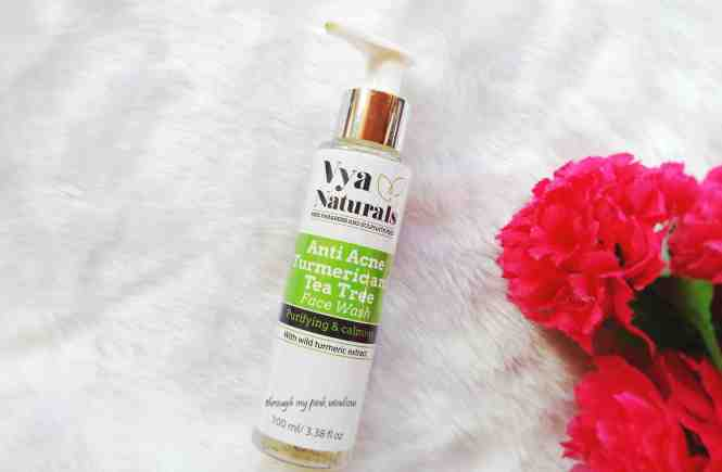 Vya Natural Turmeric and Tea Tree Anti Acne Face Wash Review
