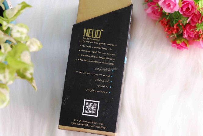 Permanent Solution for Unwanted Body hair –Neud Natural Hair Inhibitor