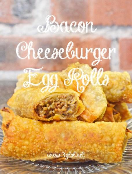 bacon cheeseburger egg rolls