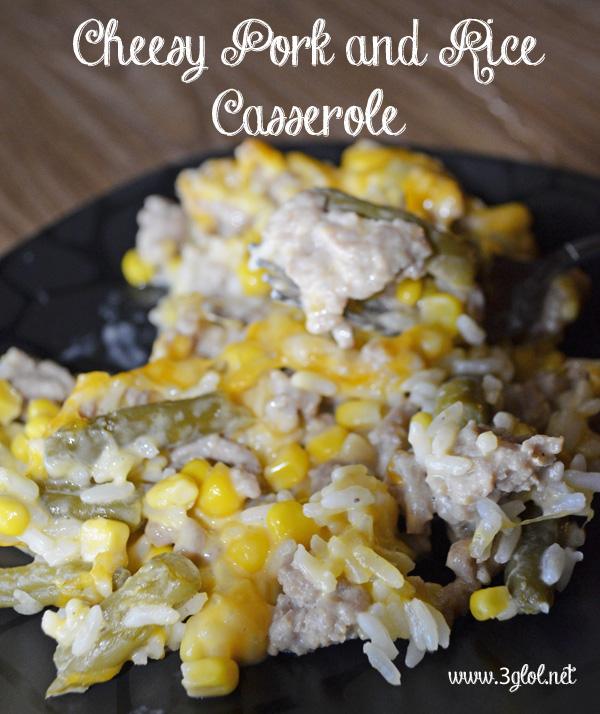 Cheesy Pork and Rice Casserole