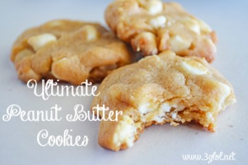 Ultimate Peanut Butter Cookies #peanutbuttercookies #cookies #whitechocolatechips