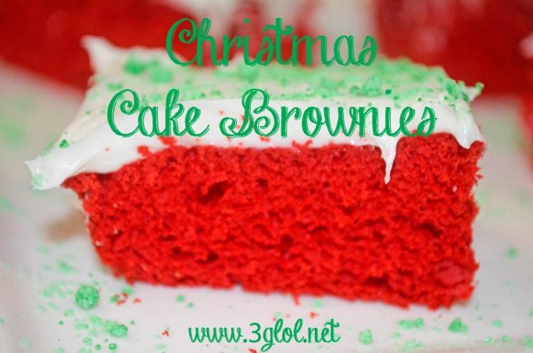 Christmas Cake Brownies