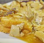 Turkey and Gravy on Toast by 3GLOL.net