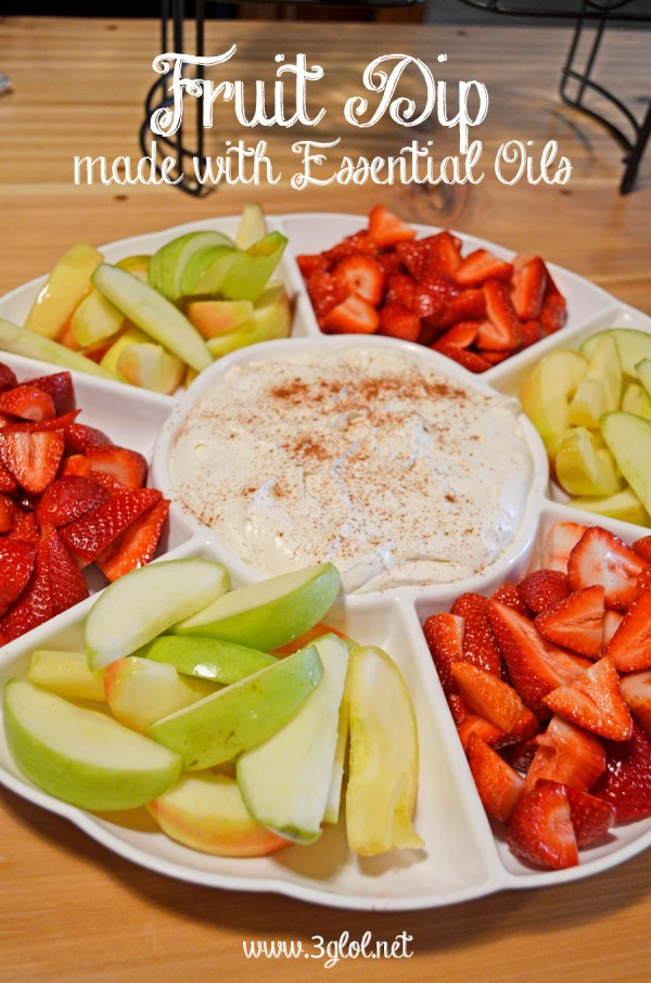 Fruit Dip made with Essential Oils