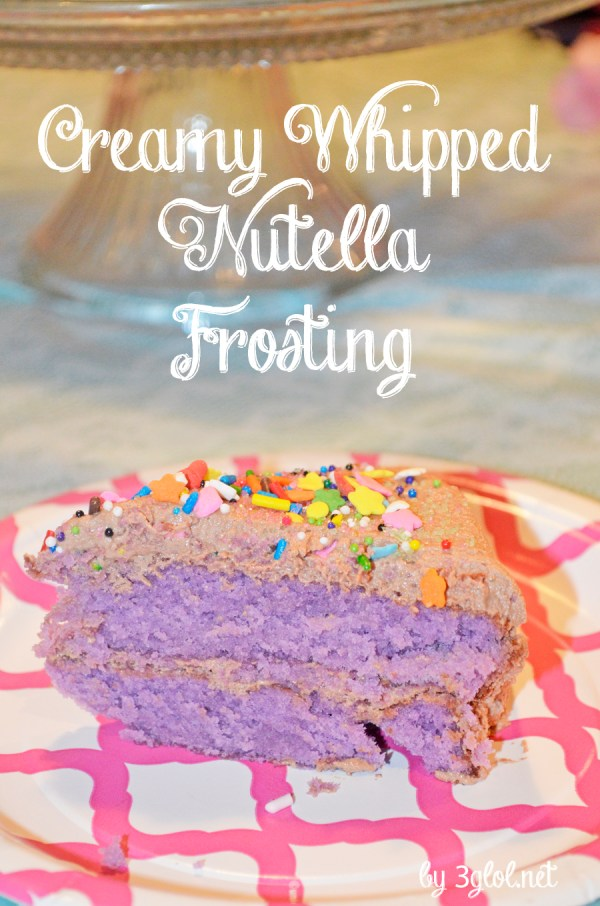 Creamy Whipped Nutella Frosting