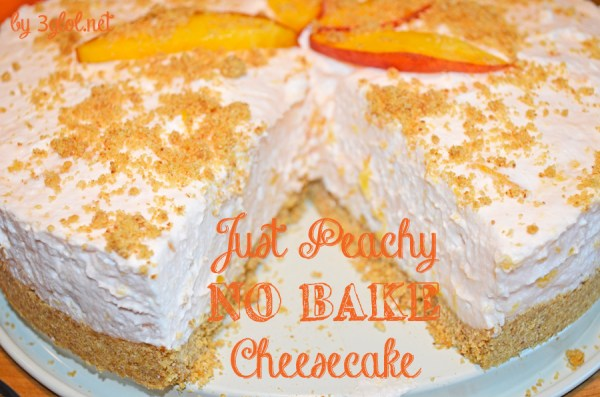 Just Peachy NO BAKE Cheesecake
