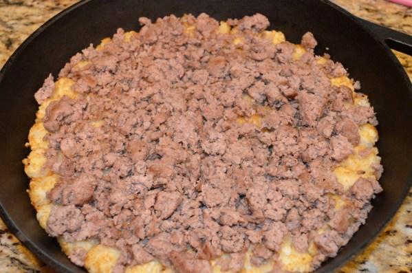 Bacon Cheeseburger Tot Skillet