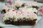 Brownies with Peppermint Icing