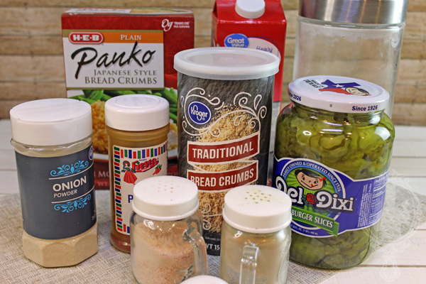 Ingredients used with Easy Air Fryer Fried Pickles