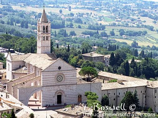Basilica di Santa Ciara, Assisi, Italy.