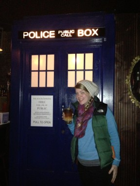 Because of course a Brooklyn Bar has a TARDIS for a bathroom