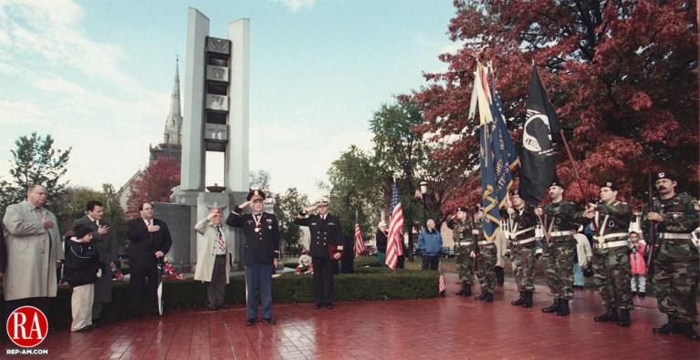 WATERBURY - 11/11/98 - The audience at the Veterans