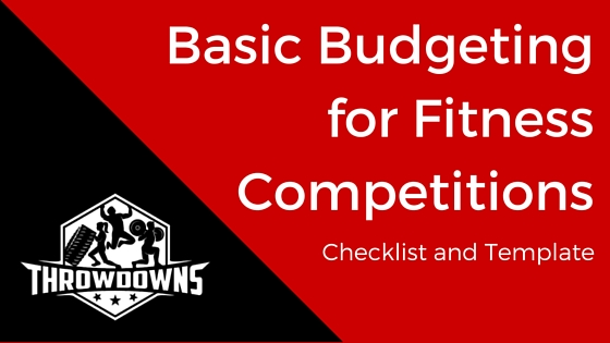 Basic Budgeting for Fitness Competitions