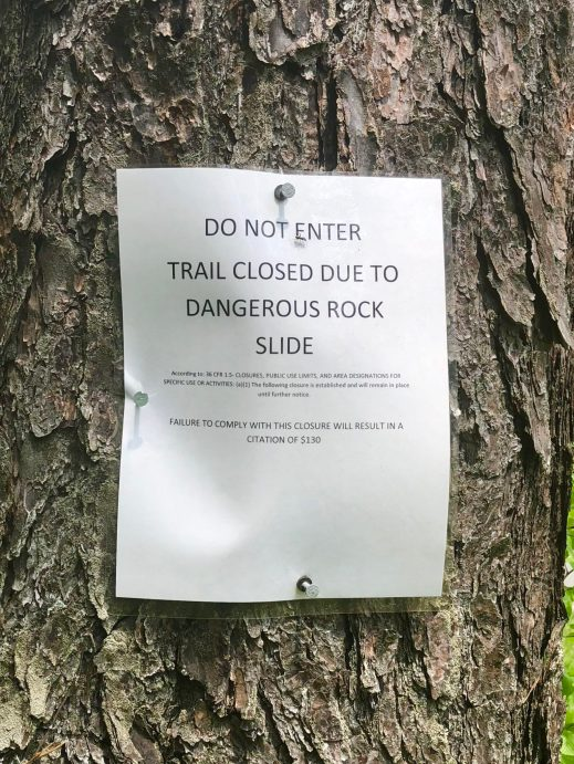 Trail closings galore, and this was just the beginning