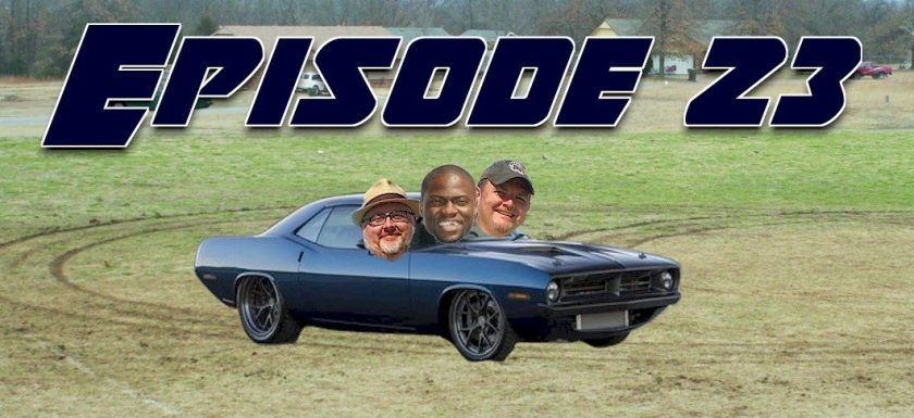 Daryl, Eric and Kevin Hart doing donuts in his Cuda