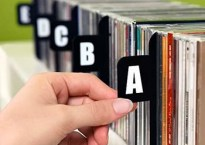 CD collection shelf