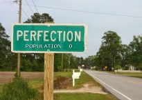 Perfection road sign