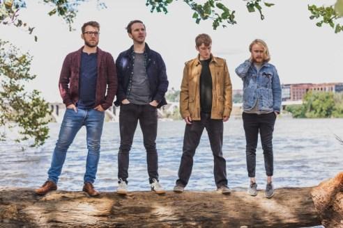Outdoor group photo of indie folk quartet Wylder
