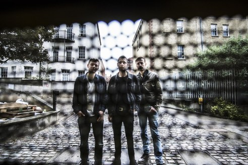Group photo of Bristol based band, Hexcut