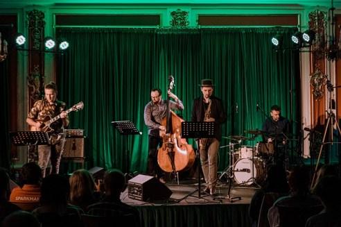Live photo of jazz quartet The Beat Freaks