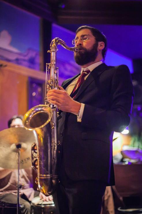 Photo of saxophonist Patrick Wolff