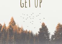 "Cover art for Sarah Slaton's single, ""Get Up"""