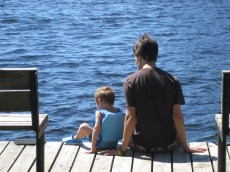Brotherly Bonding at the Lake
