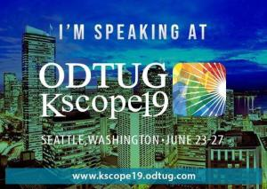 Kscope19 in Seattle - Be there!