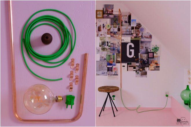 Wandlamp voor mijn werkkamer, diy.
